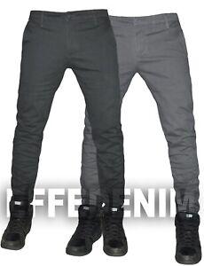 Pantaloni Uomo Casual cotone slim chino elasticizzati Tasca America nuovo 703