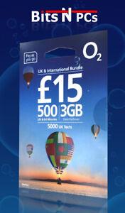 O2 PAY AS YOU GO INTERNATIONAL SIM CARD - INCLUDES STANDARD / MICRO / NANO