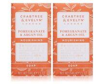 Crabtree & Evelyn Pomegranate & Argan Oil Triple Milled Soap 5.5 oz, set of 2