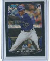 2013 Bowman Chrome  black  Wave Refractor Nolan Arenado RC, #41