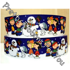 "A Charlie Brown Christmas 1"" wide grosgrain ribbon the listing is for 5 yards"