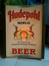 hudepohl beer on tap cincinnati sign advertising lighted