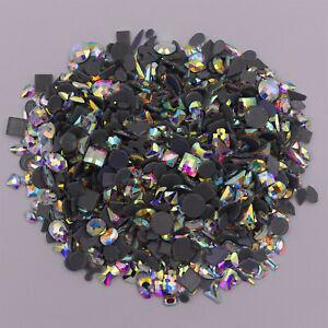 Crystal AB Iron On Hotfix Rhinestones Hot Fix Flatback Stones Flat Back Gem