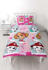 Paw Patrol Girls Single Reversible 2 in 1 Duvet Bed Set