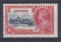 DB361) Ascension 1935 Jubilee 1.5d deep blue & scarlet SG 31 with variety
