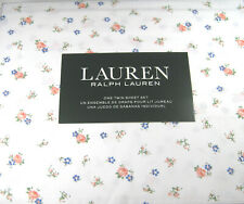 Ralph Lauren 3 Pc. Twin Size French Country Floral Print Sheet Set 100% Cotton