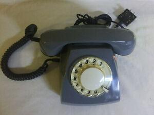 USSR Disc Rotary Grey Telephone TAN-70-4 Original 1980 Soviet Union Retro Rare