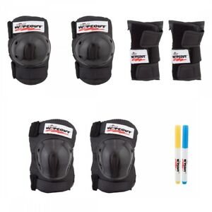 Triple Eight Wipeout 3-Pack Black Youth MD Unisex