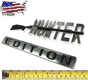 HUNTER EDITION Emblem HIGH QUALITY Tailgate car TRUCK logo DECAL SIGN Door Badge