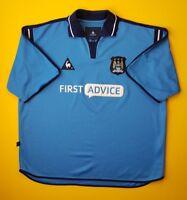 Manchester City jersey XL 2002 2003 home shirt soccer Le Coq Sportif ig93 4.7/5