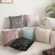"""17"""" Star Plush Faux Fur Cushion Cover Christmas Pillow Case Home Decor"""