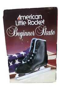 American Little Rocket Double Runner Beginner Ice Skate Black Boys Size 13