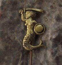 Warsaw Warszawa Polish Poland Heraldic Crest Mermaid Sword & Shield Pin Badge