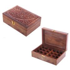 Essential Oil Storage Box holds 24 Essential Oils. Premium Hand Made Wooden Box