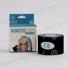 NASTRO cinetico per lo sport terapia. il supporto di Kinesiologia Nastro Adesivo. 5 CM x 5 M. Nero Q. tà 1