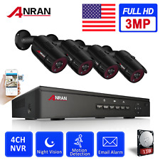 ANRAN Home Security Camera System Wired Outdoor HDMI Kit 3MP POE 8CH CCTV 1440P