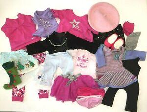 American Girl Doll Huge Clothing Lot - Pants Shirts Skirts Shoes Headband Socks