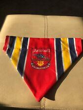 Arsenal the Gunners football club dog bandana slide through collar mediu 27x21cm