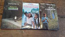 Lot 3 livres  Pierre Kyria L'été à coeur perdu Mademoiselle Sarah L'heure froide