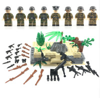 SET WW2 Army Camouflage soldiers weapons figure B Lego Toys Custom