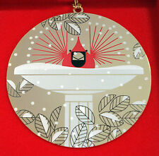 Charlie/ Charley Harper- Brass Christmas Ornament - BrrrdBath - fun bird art