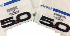 FORD RACING 15-17 MUSTANG GT 5.0L FRONT FENDER EMBLEM BADGE GLOSS BLACK SET