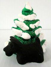 """DEPT 56  """"SCOTTIE WITH TREE""""  ~(1984)~  **ORIGINAL SNOW VILLAGE**  VERY RARE !!!"""