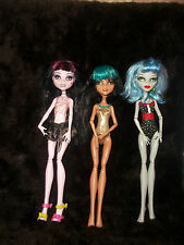LOT OF Monster High Ghoulia Cleo De Nile DRACULAURA  Dead Tired Dolls Collection