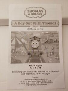 A Day Out With Thomas Game Briarpatch GAME PARTS ONLY * INSTRUCTIONS *