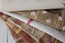 Antique French fabric vintage material PROJECT BUNDLE scraps patchwork pillows