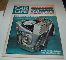 VINTAGE CAR LIFE MAGAZINE COMET V-8 PONTIAC CATALINA JULY 1963