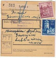 1941 Lublin Poland Germany Parcel Cover Lublin Concentration Camp KZ