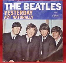 THE BEATLES 'YESTERDAY' 'ACT NATURALLY' 45RPM VINYL PICTURE SLEEVE SWIRL LABEL