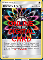 4X Rainbow Energy 137/149 Pokemon Online Card TCG PTCGO Digital Card