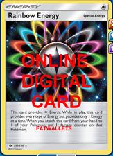 4X Rainbow Energy 137/149 Pokemon Online Card TCG PTCGO Digital Card