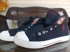 Black HighTop Sneakers By Polo Ralph Lauren Men's Size 10 1/2 used