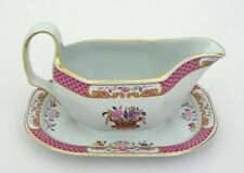 SPODE - LORD CALVERT - Y5351 - GRAVY BOAT W/ ATTACHED UNDERPLATE - EXCELLENT