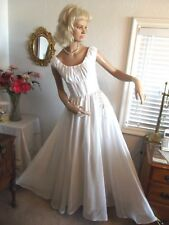 "1930-1940's VINTAGE WHITE ORGANZA/BATISTE DRESSY DRESS~RHINESTONES~32"" BUST"