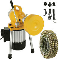 400W Electric Drain Cleaning Machine Sewer Plumbing Snake Sewage Pipe Cleaner