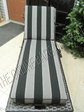 Frontgate Carlisle Outdoor Patio Pool Chaise Cushion Parallel Slate stripe 23x75