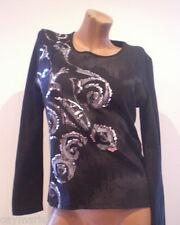 VÊTEMENTS t-shirt femme NOIRE Taille 44 ou 46 NOUVEAU T-shirt Femme Réf. 33