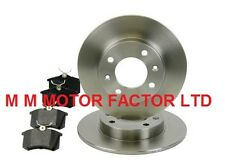 CITROEN C2 (03-10) 1.6 HDI VTR VTS REAR 2 SOLID BRAKE DISCS AND PADS SET NEW