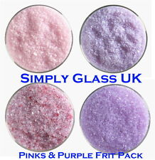 Bullseye Kiln Fusing Medium Frit Pack - Pink and Purple