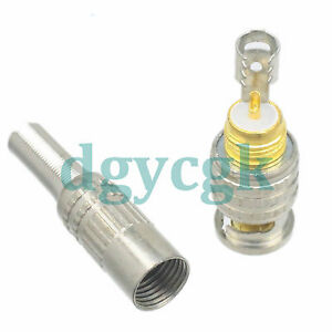 10pcs connector BNC male plug spring jacketed RG59 RG58 LMR240 cable straight M
