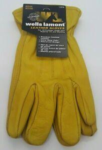 Wells Lamont All-Purpose Premium Cowhide Leather Medium Work Gloves NWT 1209M