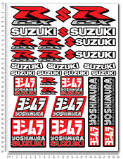 Suzuki GSXR sticker set 9.4x12.6 in 29 decals Laminated 600 1000 yoshimura k5 k7