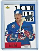 1993-94 Upper Deck Jets Hockey Card #309 Teemu Selanne TL Autograph Mail In
