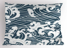 Japanese Wave Pillow Sham River Storm Retro King Size Pillowcase 36 x 20 Inches