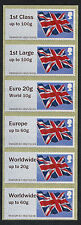 NCR TYPE IIA FLAG FLAGS COLL STRIP/6 w EU& WW to 60g EURO 20g/WW 10g POST & GO
