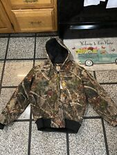 NWT Men's small Carhartt  Hooded Camouflage  Lined  Heavy Jacket !!
